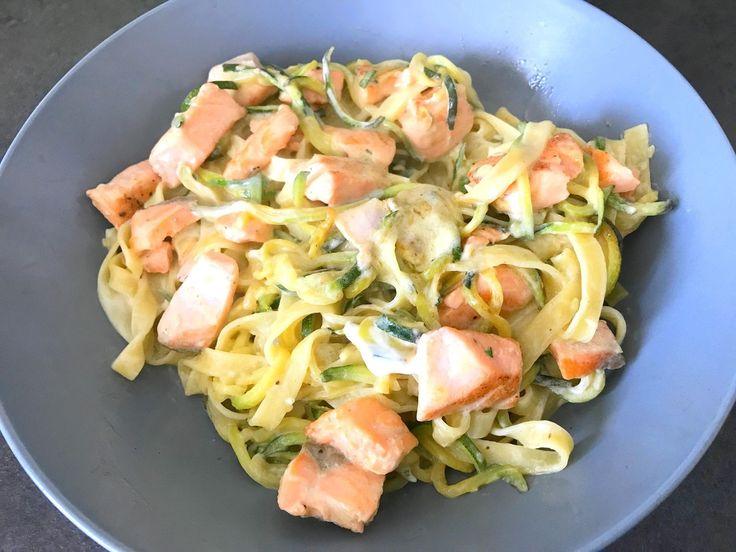 Saumon aux tagliatelles et spaghettis de courgettes - 11sp - La Cuisine d'Emy