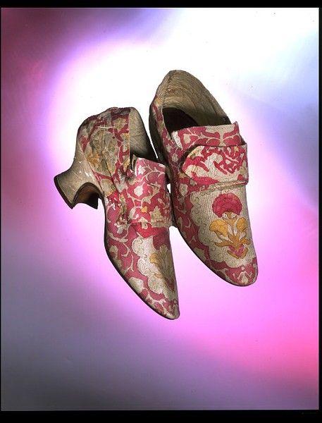 Shoes, 1760's Belgium (Brussels - worn in England), Victoria & Albert Museum
