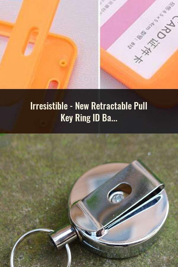 0f7f38ebc14f New Retractable Pull Key Ring ID Badge Lanyard Name Tag Card Holder ...