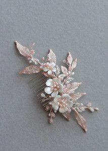 HARTLEY_Silver and blush bridal hair combs 4