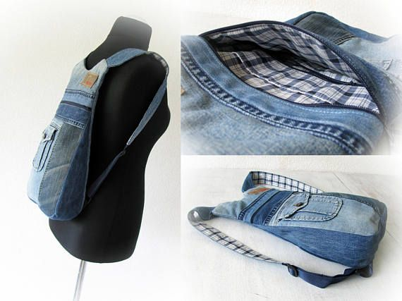 Unisex ipad jeans backpack Back to School ipad bag Denim rucksack Handmade patchwork backpack Jean backpack Recycled jeans Made with jean  A comfortable jean backpack .  It`s good (universal) for any types of small gadgets - iphones, notebooks, small gadget for reading, etc.  It is not only versatile, but fairly roomy for a backpack. You can easily store your wallet, iphone (or any other phone), keys, notebook and a small gadget for reading while on your way.  It's padded with a light sp...