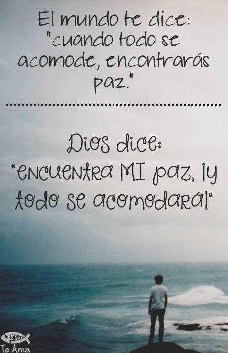 Encuentra la Paz EN Dios! facebook.com/jesusteamamgaministries