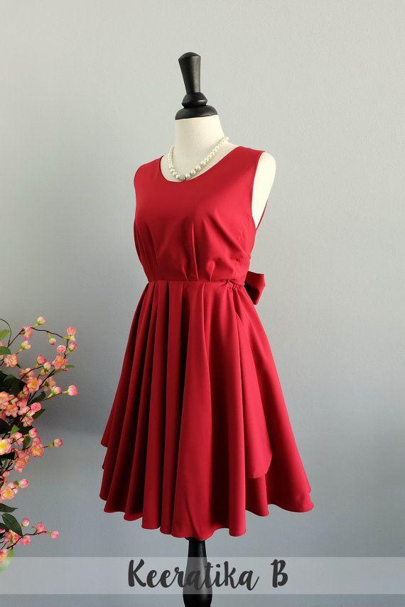 Rotes Kleid blutrot roten Kleid Party von LovelyMelodyClothing