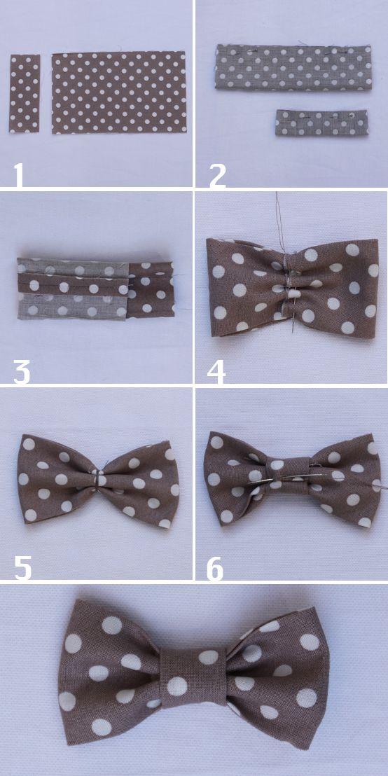 comment réaliser un noeud papillon parfait en tissu pour mettre sur un vêtement, une barrette, un bijou
