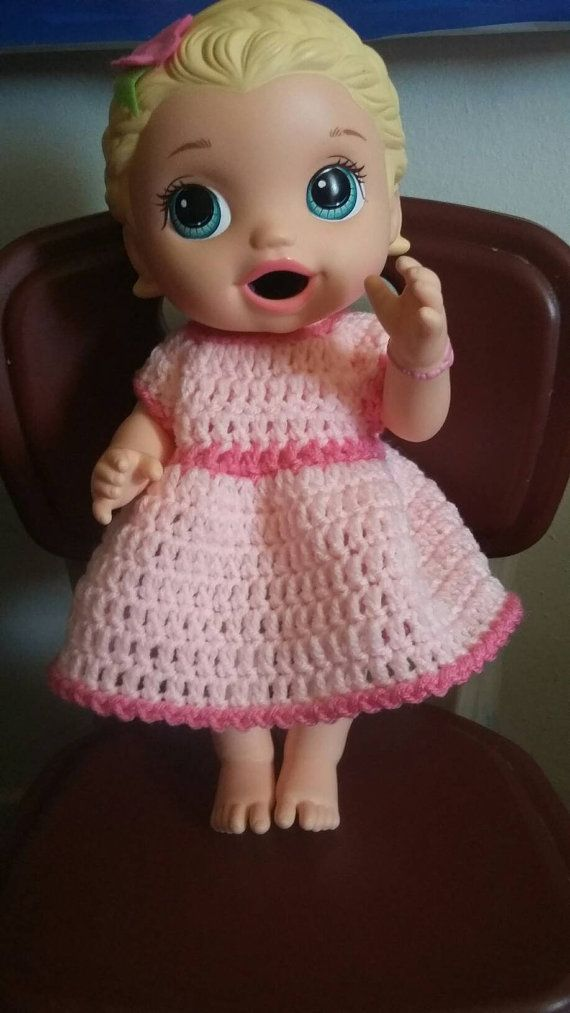 Crochet Baby Alive Dress Outfit Outfit Will Fit Baby Alive Super Snack Snackin Lily Blonde And Baby Alive Briannas B Baby Alive Dolls Baby Alive Crochet Baby
