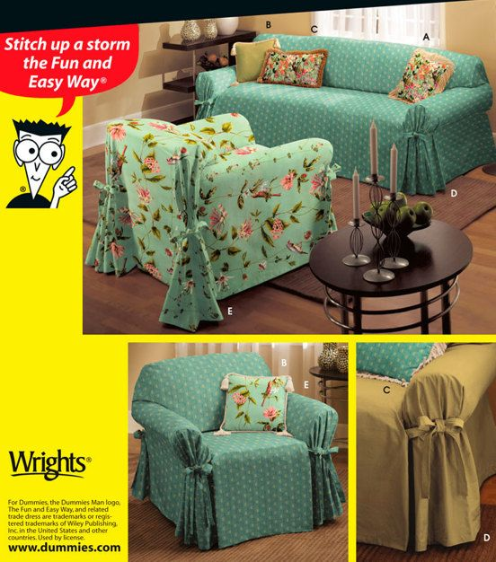 DUMMIES SLIPCOVER Pattern  Sewing for Dummies by patterns4you