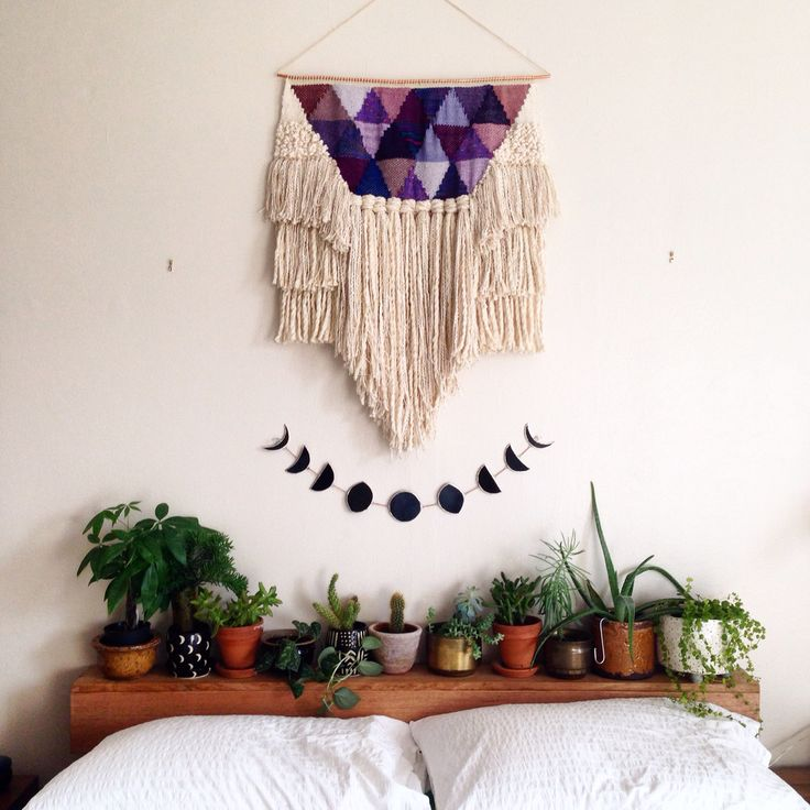 headboard of plants and the moon cycle