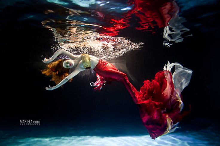 Mermaid 2 - Rafal MakielaRed Mermaid, Rafal Makiela, Art, Commercials Photography, Underwater Photography, Photography Water, Fashion Photography, Photoshoot Ideas, Photography Inspiration