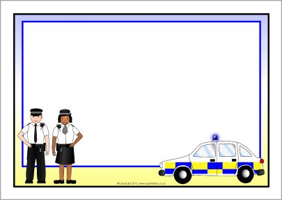Police A4 page borders SB9818