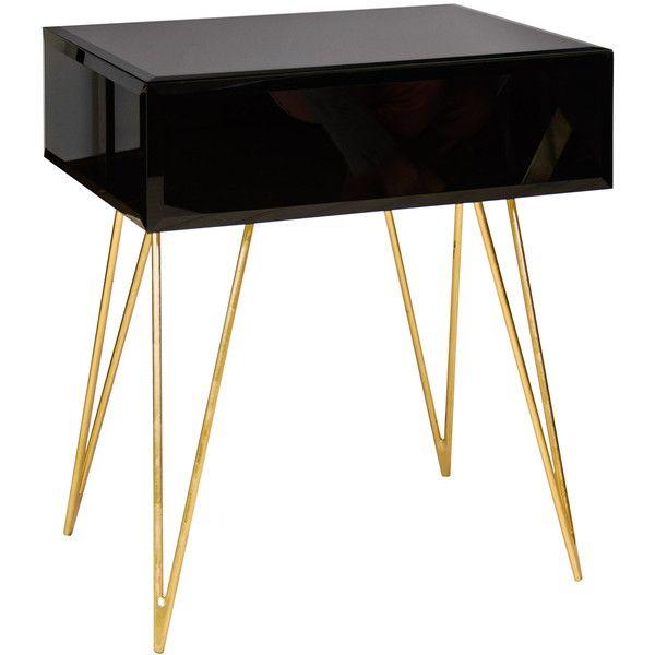 Best 20 Black glass side table ideas on Pinterest Wooden spool
