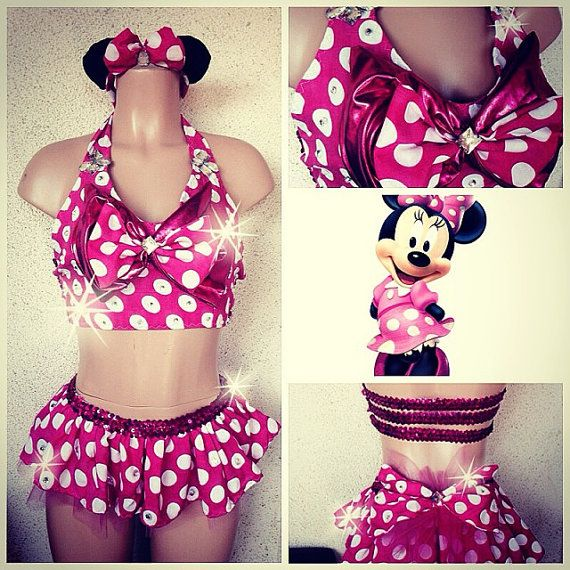 minnie mouse outfit tops bottoms rave costume outfit for