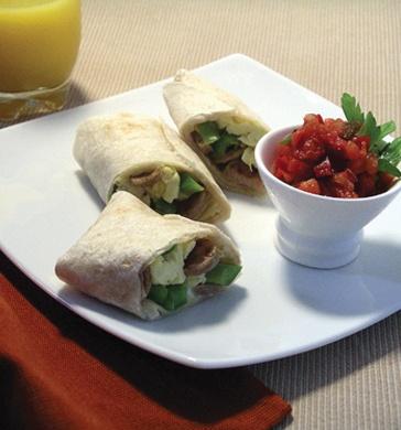 al fresco Country Style Chicken #Sausage Breakfast Burritos with Scrambled #Eggs and Cheddar