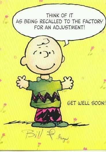 Charlie Brown get well soon