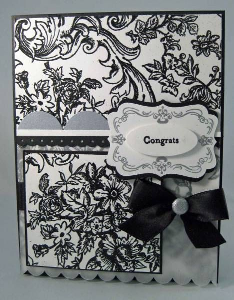 Love toile in black & white!: Card Idea, Splitscoastampers Black Whit, Cards Scrapbook, Belle Toile, Black And White, Masculine Cards, Bella Toile, Black White, Card Crafts