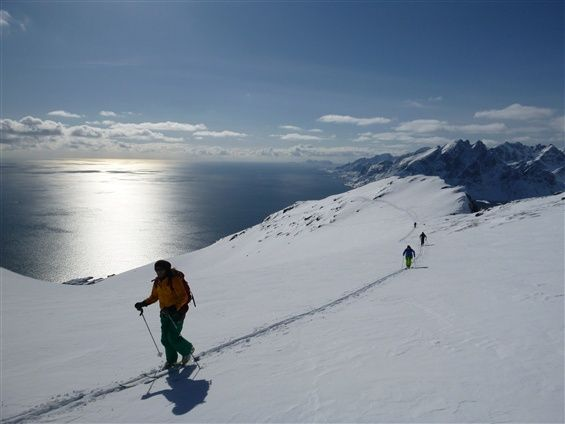 The ultimate skitouring experience - end your day of skiing on the beach.