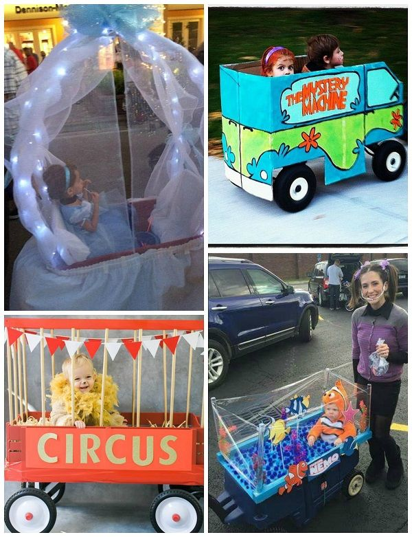 Kids Halloween Costumes on Wheels (Wagon Ideas) - Crafty Morning