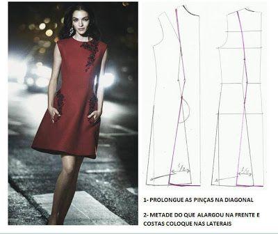 Vestido. do blog: Moldes Moda por Medida