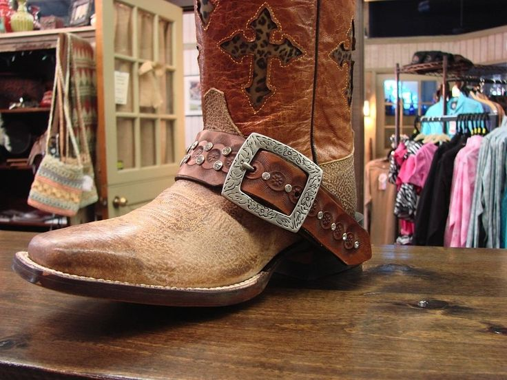 Nwt Spur Strap Boot Bling Custom Designed For Cowboy