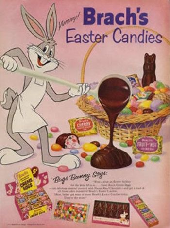candy advertising from the 50s | Vintage Brach's candies ad for Easter, 1959 - Found in Mom's Basement