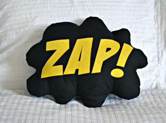 Comic Bubble Superhero Pillow featuring your favourite superhero!    Pow! Bam! Kapow! Splat! Zap!    Calling all superheros big and small! This