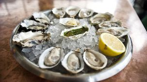 Happy hour- The John Dory Oyster Bar m-f 5-7 (April Bloomfield)