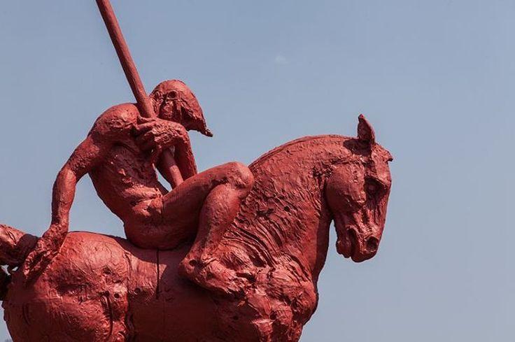 #JavierMarin, #de3en3, grupo rojo. #escultura, #sculpture, #caballo, #horse, #bronce, #bronze