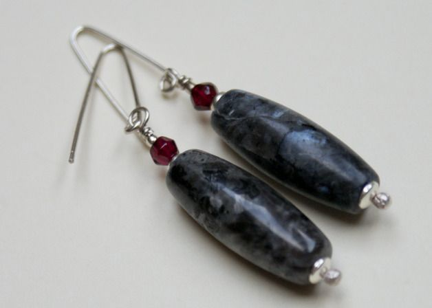 Ohrringe & Ohrschmuck - 925er Silber-Ohrhänger mit Labradorit - ein Designerstück von Tilia_ bei DaWanda