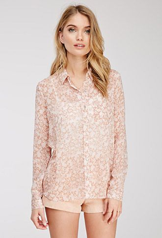Ditsy Floral Print Shirt | Forever 21 - 2000137672