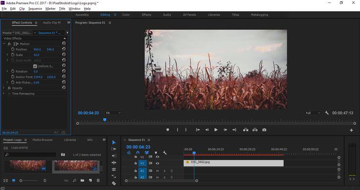 Adobe Premiere Pro screen capture