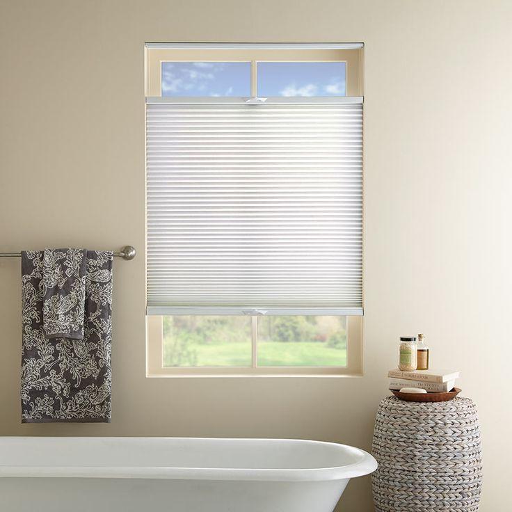 20 best bathroom window treatments images on pinterest bathroom windows bathroom window for Blinds for bathroom window treatments