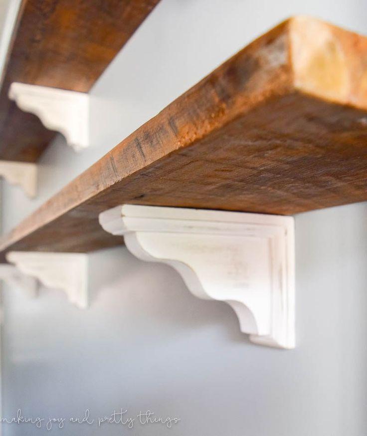 Best 25 farmhouse shelving ideas on pinterest shelf for Using reclaimed wood