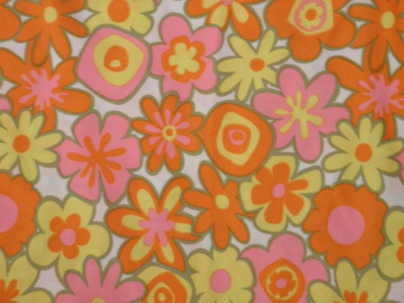 Vintage 60s MOD Pucci Era Groovy Psychedelic Floral Twiggy ...