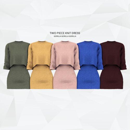 gorillax3: Two Piece Knit DressFull BodyNew MeshAll LODsShadow… – Sims 4