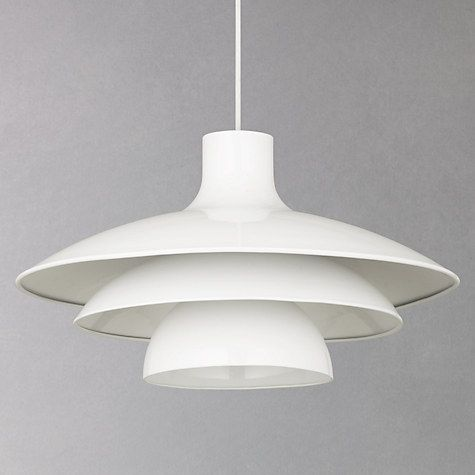 Buy House By John Lewis Harvey Pendant Light, White Online At Johnlewis.com  · House LightingKitchen ...