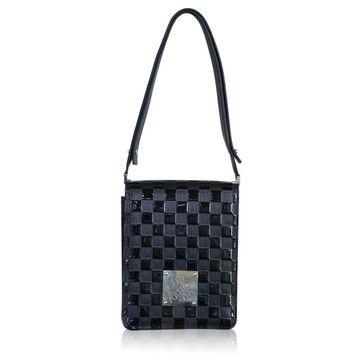 Louis Vuitton Rare Damier Vernis Runway Party Black Cross Body Bag