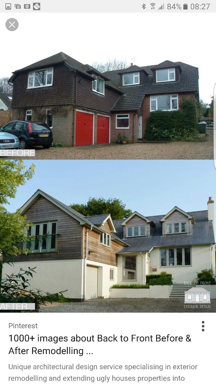 Exterior remodelling scheme by Back to Front