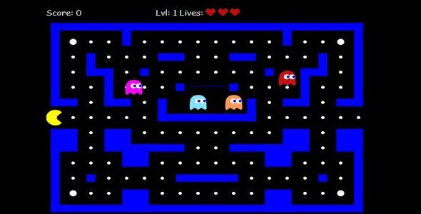 PACMAN canvas HTML5 game