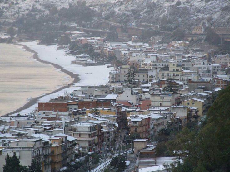 Panorama di Letojanni innevata del 07.01.2017