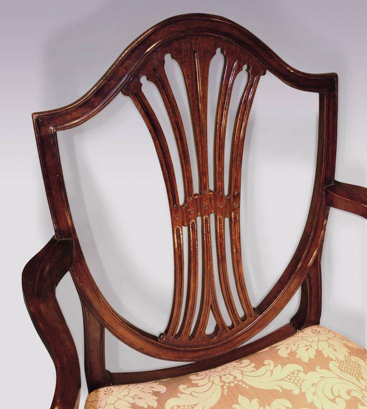 Set Of Six Hepplewhite Period Mahogany Dining Chairs For SaleDining Room