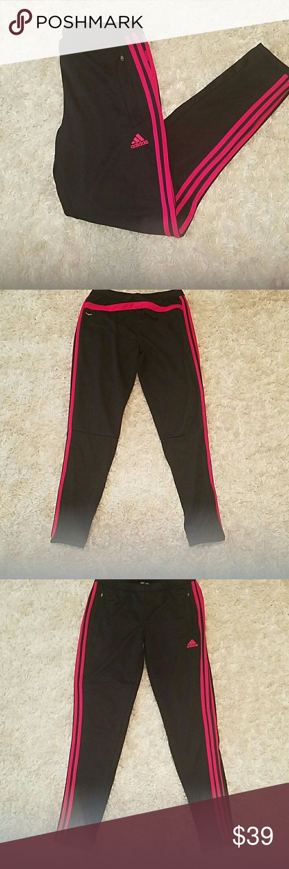 Adidas Pink Stripped Joggers Pink Side Strip SLIM Fit joggers Adidas Pants Track Pants & Joggers