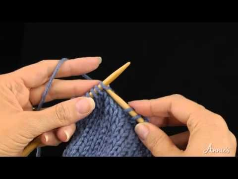 Slip 1 Knitwise (sl 1 kwise): Learn how to knit sl 1 kwise stitch with this free video from AnniesCatalog.com.