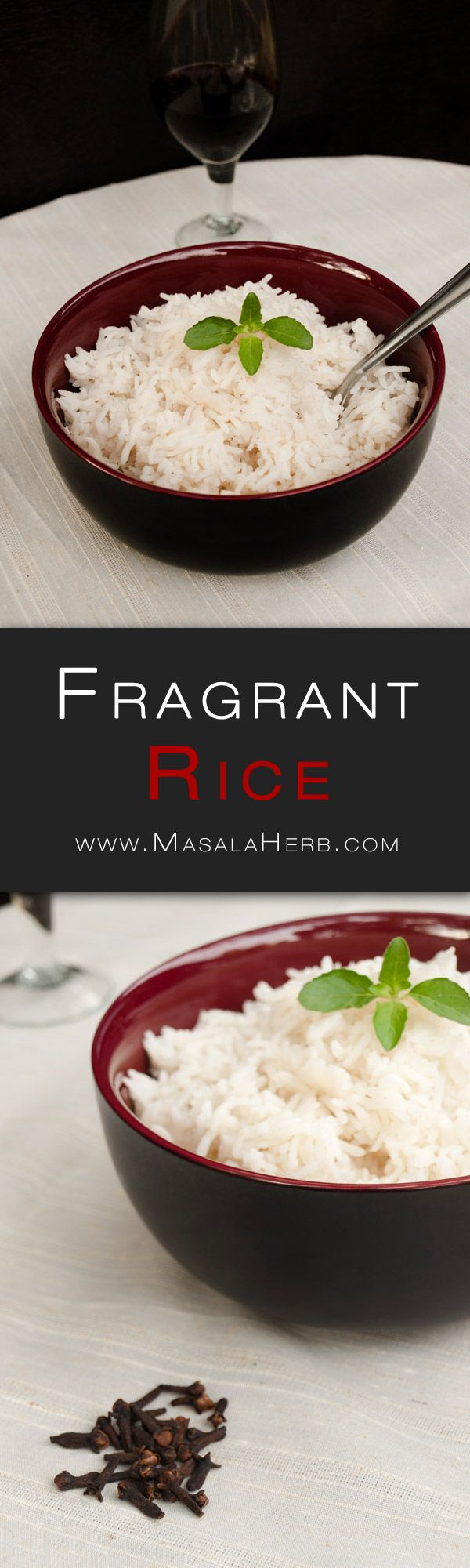Fragrant Rice Recipe with Clove - Easy Aromatic Rice Side Dish - How to make fragrant rice www.MasalaHerb.com