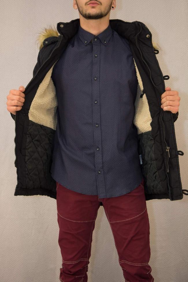 Ανδρικό πουκάμισο με τύπωμα  POUK-1651  Πουκάμισα > Άνδρας