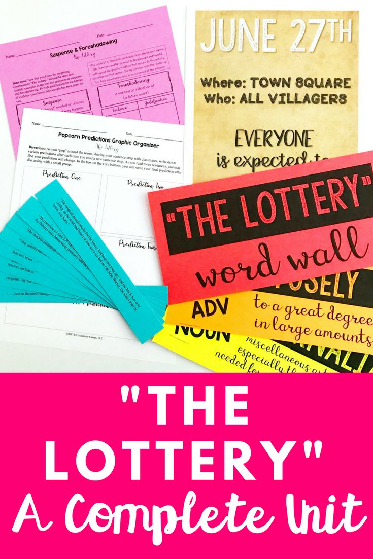 the lottery questions essay Shirley jackson's the lottery questions for study mr coia english 5-6 in your small groups, discuss the following questions about the lottery.