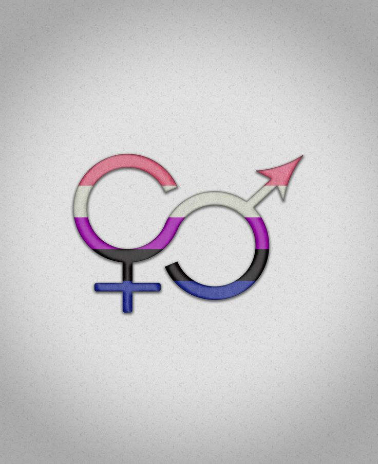 "Genderfluid Symbol. Genderfluid pride symbol in matching pride flag colors. Pink, white, purple, black, and blue flag. Genderfluid - A person who 's gender identity ""switches between genders, which may include male, female, neutrois, [no gender], third gender, or any other genderqueer identity. They can also switch to have combinations at the same time, such as male and female, or other mixes, such as male, neutrois, and a third gender.""