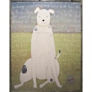 white dog artBoys Nurseries, Art Prints, Dogs Art, Design Art, Sugarboo Design, Dogs Painting, Frames Art, White Dogs, White Boys
