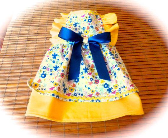 robe pour chien100% coton petites fleurs par creationsanneclaude