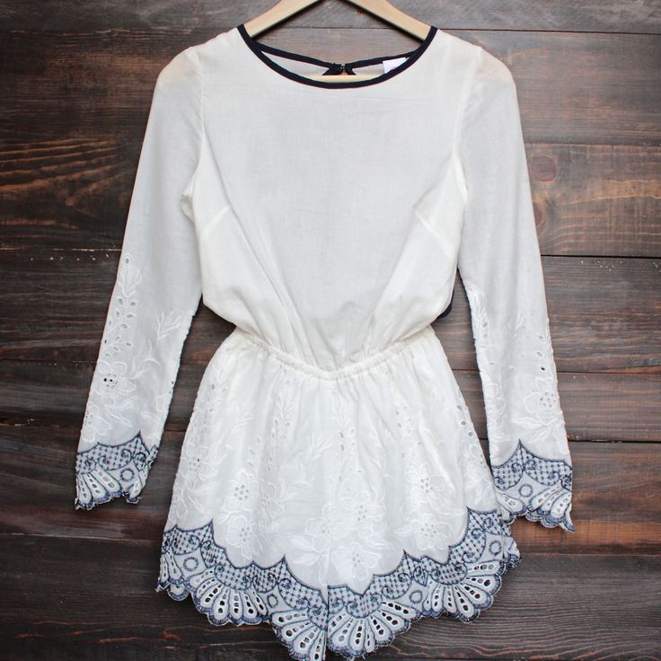 gauzy embroidered romper