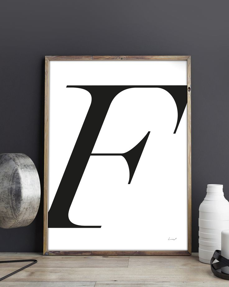 Make a statement with big bold letters in this mid century styled print | poster by Lucky 5