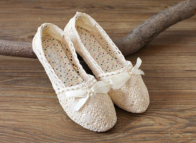 Earthy Colors at DaWanda Other – Handmade Japanese style summer lace 2015 shoes – a unique product by bigbangshoes on DaWanda